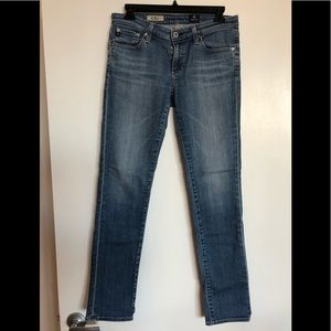AG Stevie Straight Jeans Light Wash size 28R